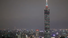 The world's second tallest building Taipei 101 - stock footage