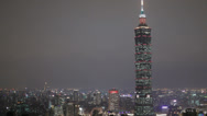 Stock Video Footage of The world's second tallest building Taipei 101