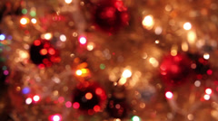 Abstract Christmas background with light effects Stock Footage