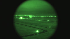 F-16 Fighter jet night operations. Stock Footage