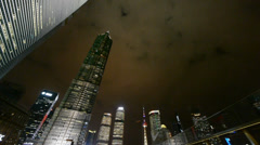 Urban building,shanghai pudong business center at night. Stock Footage
