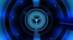 Blue energy turbine Stock Footage