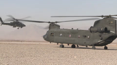 Boeing CH-47 Chinook helicopter Stock Footage