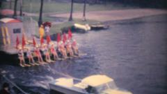 Female Waterskiers Performing In Florida-1961 Vintage 8mm film Stock Footage