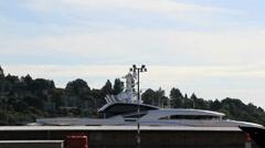 "Yuri Scheffler's 440-foot Luxury Yacht, ""Serene"" Stock Footage"