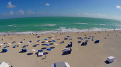 Miami Beach aerial footage Stock Footage