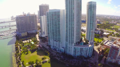 Highrise condos in Miami Stock Footage