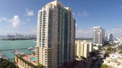 Yacht Club Miami Beach Stock Footage