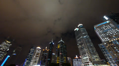 Urban building,shanghai pudong business center & pearl-tower at night. Stock Footage