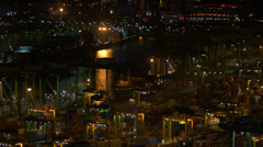 Singapore container port at night HD Stock Footage