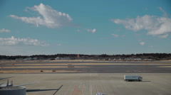 Planes taking off from Tokyo Narita airport Stock Footage