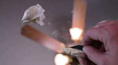 Cocaine Making Lines Stock Footage