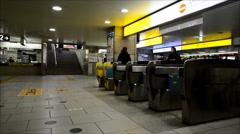 Odakyu line Shinjuku underground station, Tokyo Stock Footage