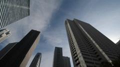 Skyscrapers in Nishi-Shinjuku, Tokyo Stock Footage
