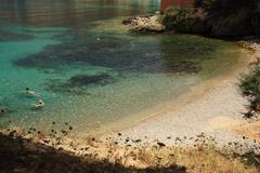 Tranquil beach in kefalonia Stock Photos