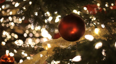 Outdoor Christmas Bauble At Night - stock footage