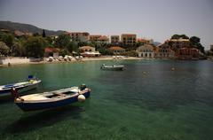 assos beach kefalonia - stock photo