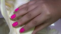 Woman fingernails - stock footage