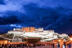 Potala palace in tibet Stock Photos