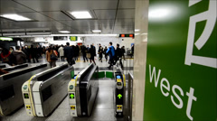 JR Shinjuku underground station, Tokyo Stock Footage