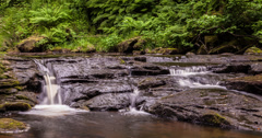 4K time lapse of running water and waterfalls Stock Footage