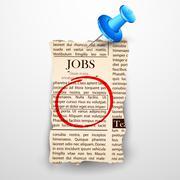 Job Classified in Newspaper - stock illustration