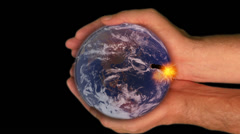 Earth in Human Hands Stock Footage