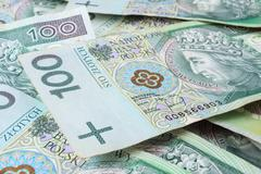 seamlessly tileable and repeatable 100's pln (polish zloty) - stock photo