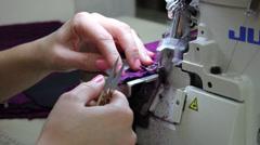 Overlock machine 1 Stock Footage