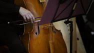 Stock Video Footage of Classical Orchestra: Solo Cellist