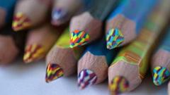 Color Pencils. Slider Shot 1 Stock Footage