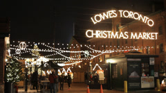 Toronto Lowes Christmas Market Stock Footage