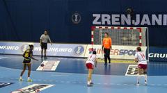 Women's handball world championship Stock Footage