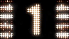 Floodlights flashing-Countdown - stock footage