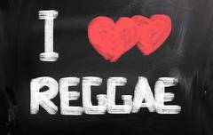 i love reggae concept - stock illustration