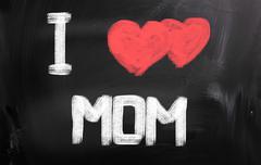 I love mom concept Stock Illustration