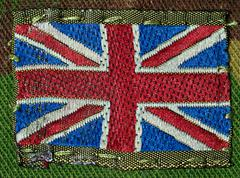 British army flag patch Stock Photos
