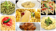 Stock Video Footage of italian pasta montage