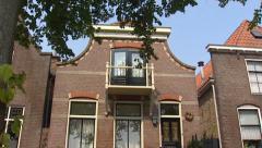 Old Dutch house + tilt up facade, Blokzijl, The Netherlands Stock Footage