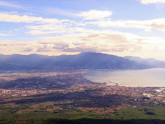 Pompei Valley, view from Mount Vesuvius. Italy. 4x3 - stock footage