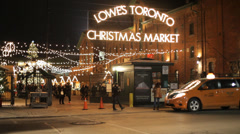 Toronto Distillery District Market Stock Footage