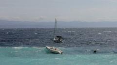 Waves on the sea - stock footage