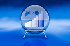 Stock Illustration of financial forecasts