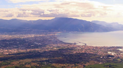 Pompei Valley, view from Mount Vesuvius. Italy. 4K - stock footage