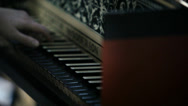 Stock Video Footage of Classical Orchestra: Harpsichord player