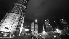 Time lapse,busy pedestrian,shanghai finance center & orient pearl TV tower. Stock Footage