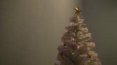 Glowing White Christmas Tree - O - 1920x1080 - 1 minute loop - stock footage