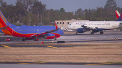 Southwest Airlines Runway Stock Footage