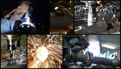 Metalworking collage Stock Footage