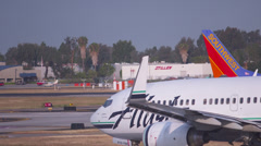 Alaska Airlines Runway Taxi Stock Footage